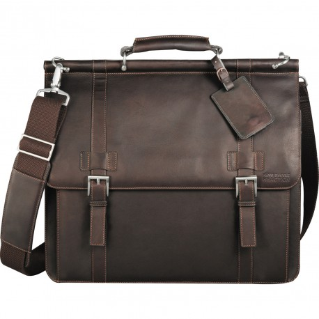 Kenneth Cole® Colombian Leather Dowel Rod Messenger
