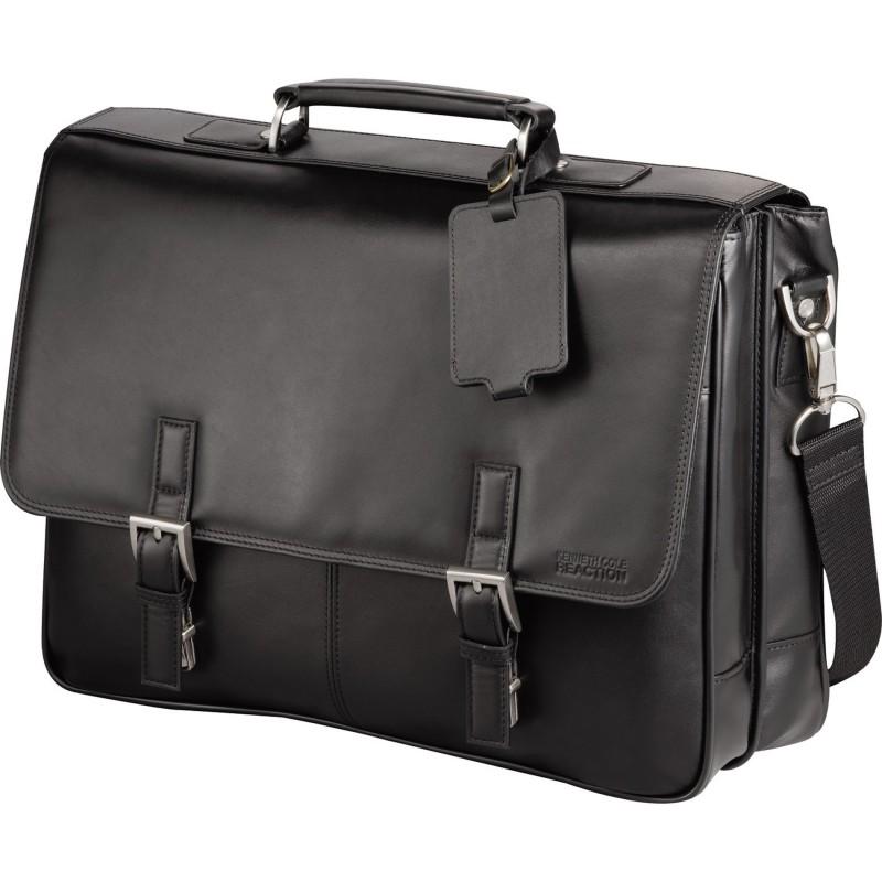 Kenneth Cole Manhattan Leather Compu Messenger Bag